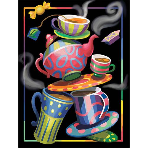 АЖ-1581 Картина стразами 'Чайная фантазия' 30*40см