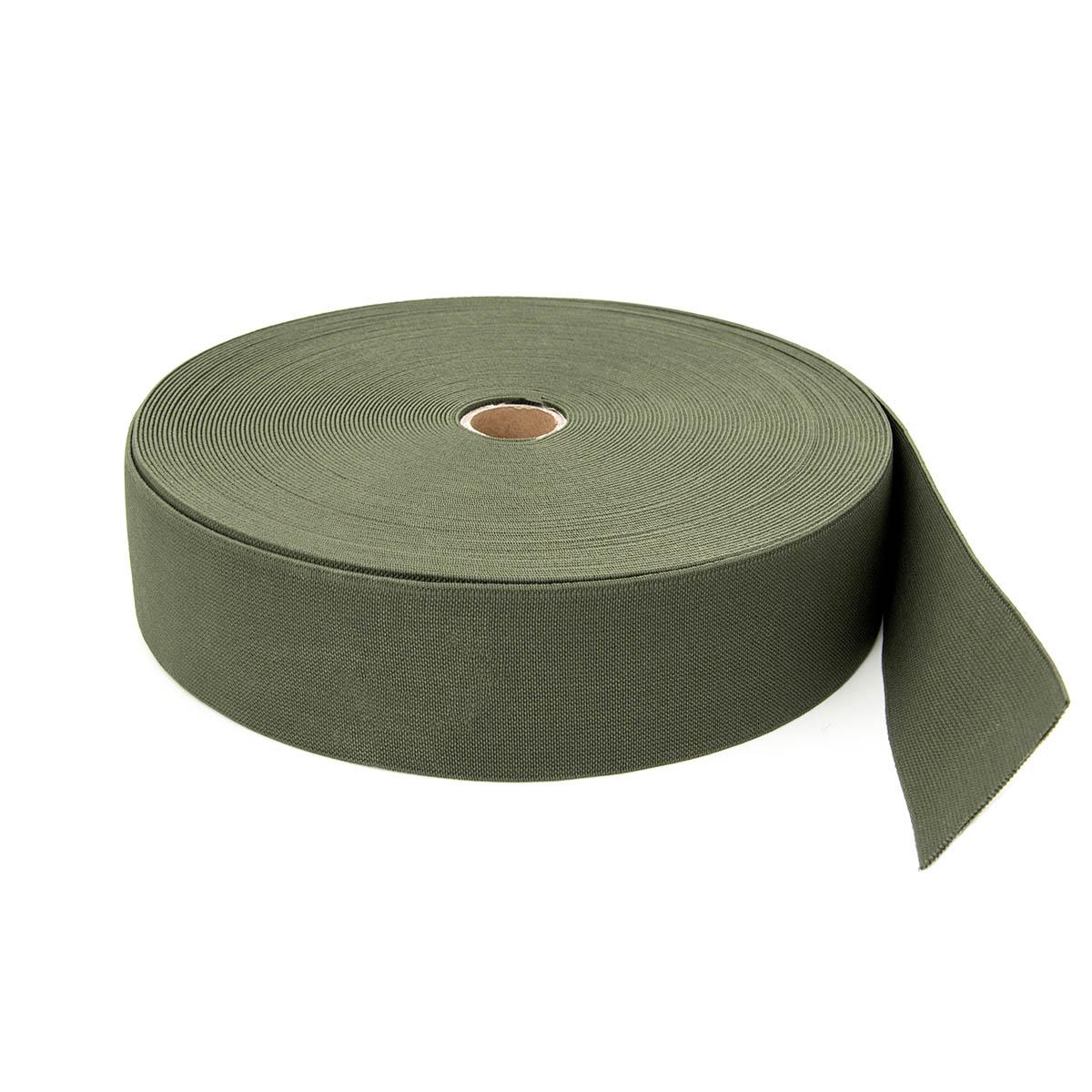 15-3849/9831 Резинка вязаная 50мм*25м оливка ГР