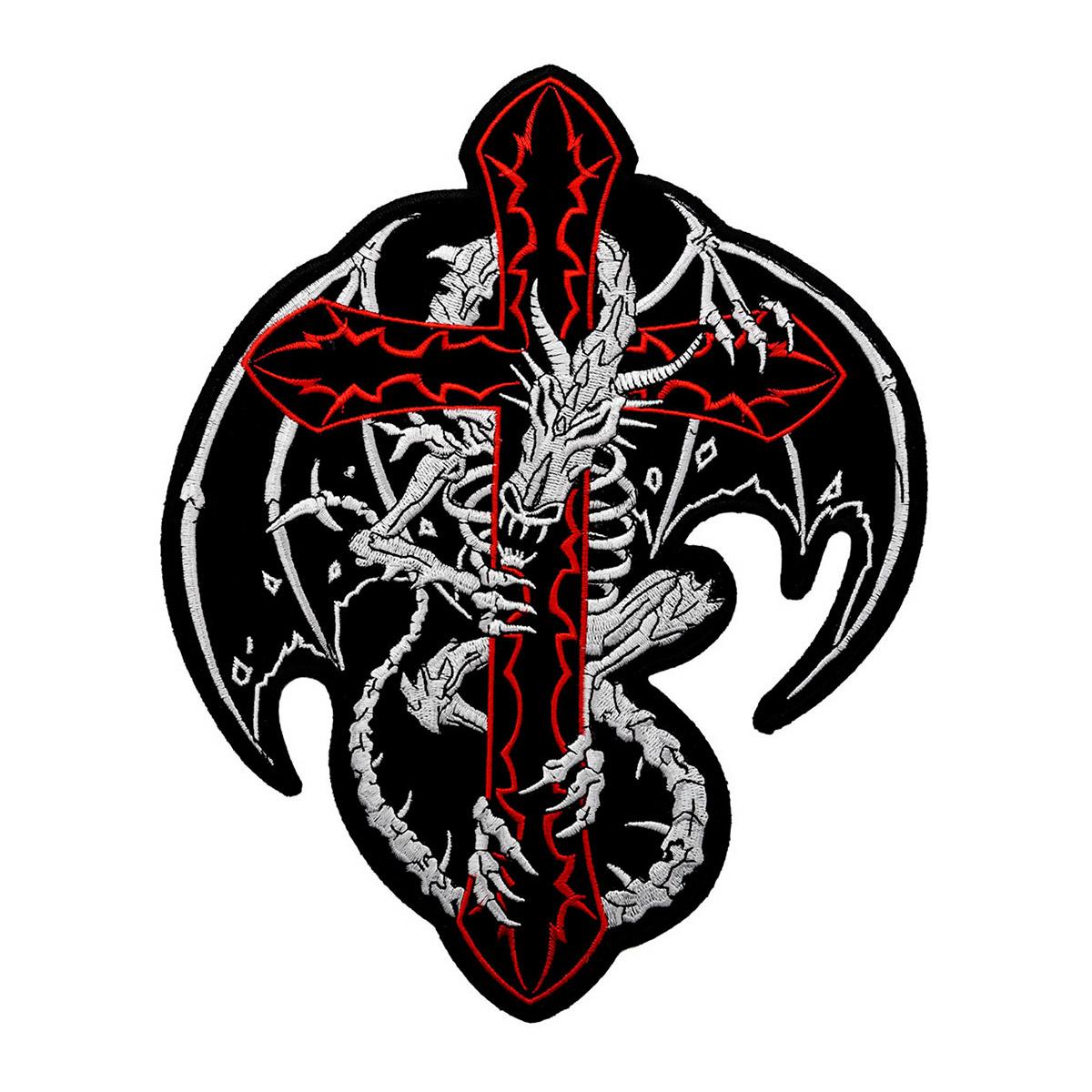 """Термоаппликация AD1419 """"Дракон на кресте"""", Hobby&Pro"""