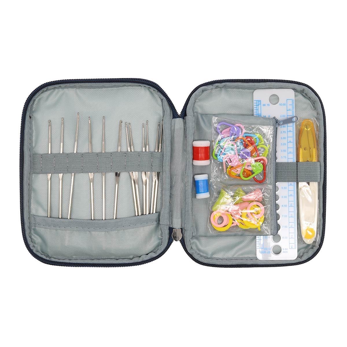 CK070 Набор вязальных принадлежностей, многофунциальный подарочный,72 предмета,13,5*17,5см Hobby&Pro