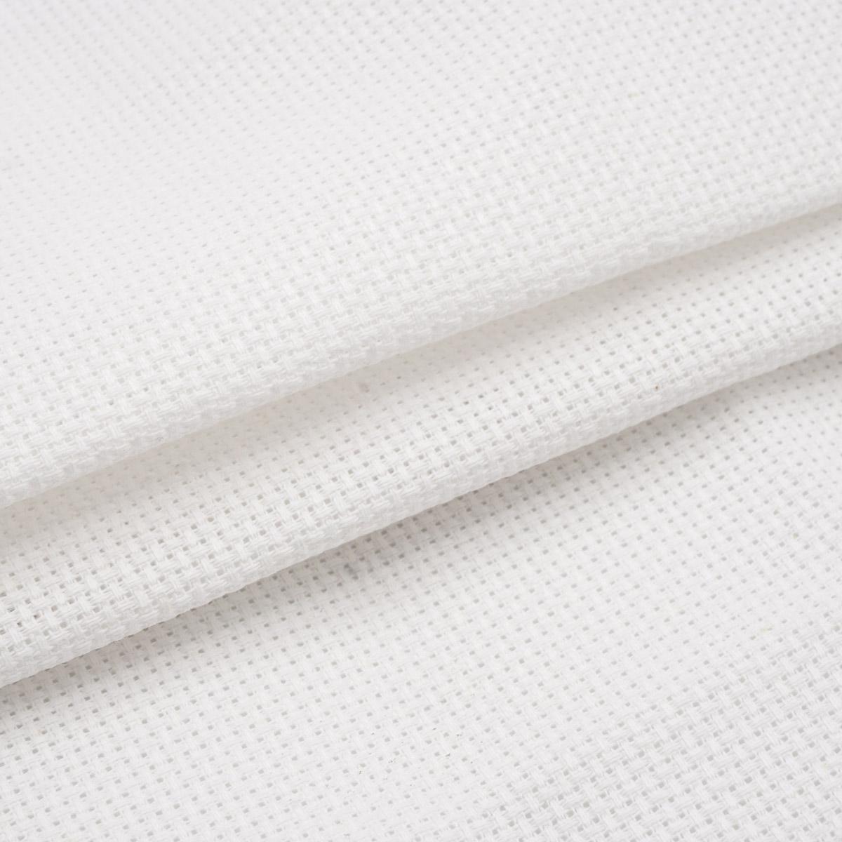 Канва 624010-11C/T, 50*50см белая Bestex