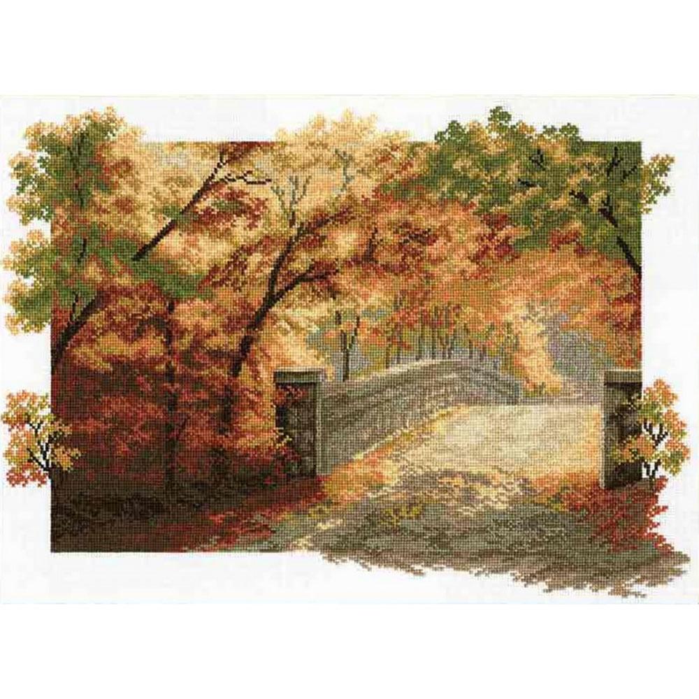 """Набор для вышивания 679 """"Осенний мост"""", 36х25 см, Hobby&Pro"""