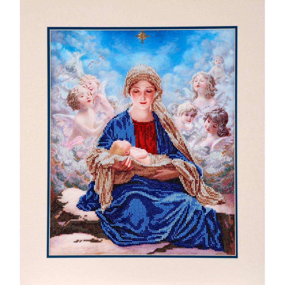 """Набор для вышивания бисером БН-3086 """"Богородица с ангелами"""", 30х36 см, Hobby&Pro"""