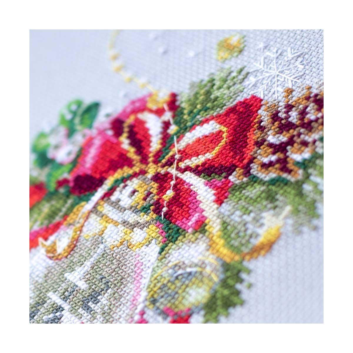 100-232 Набор для вышивания Чудесная игла 'Рождественский колокольчик'16х23см