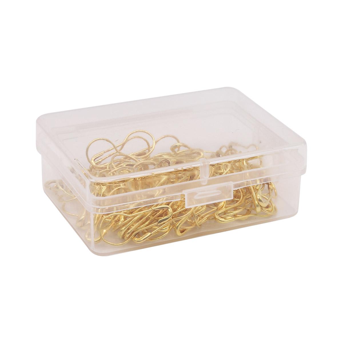 AC006 Булавки для этикеток в футляре, 100шт,золото Hobby&Pro