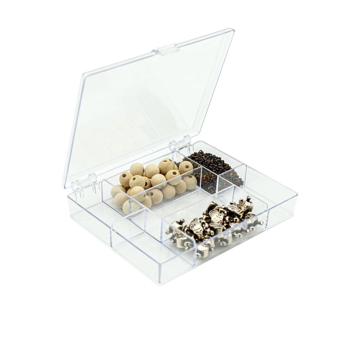 Органайзер для хранения мелочей 930520, с 7 отделениями, 11,8х9,1х2,1 см, Hobby&Pro