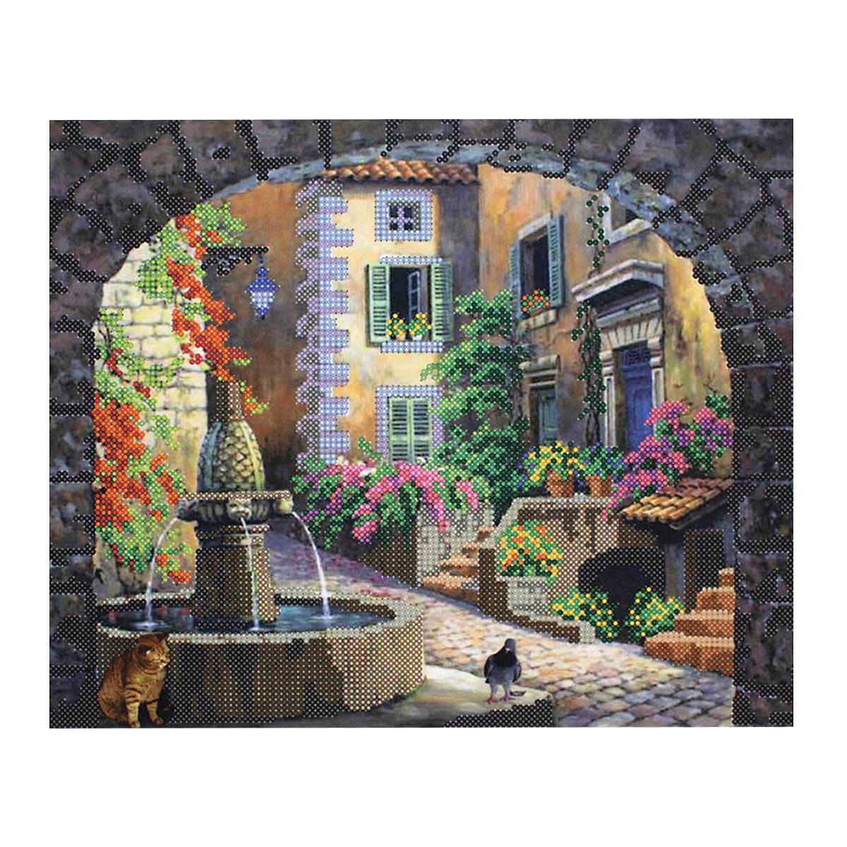 """Схема для вышивания бисером НР-3082 """"Встреча у фонтана"""", Hobby&Pro"""