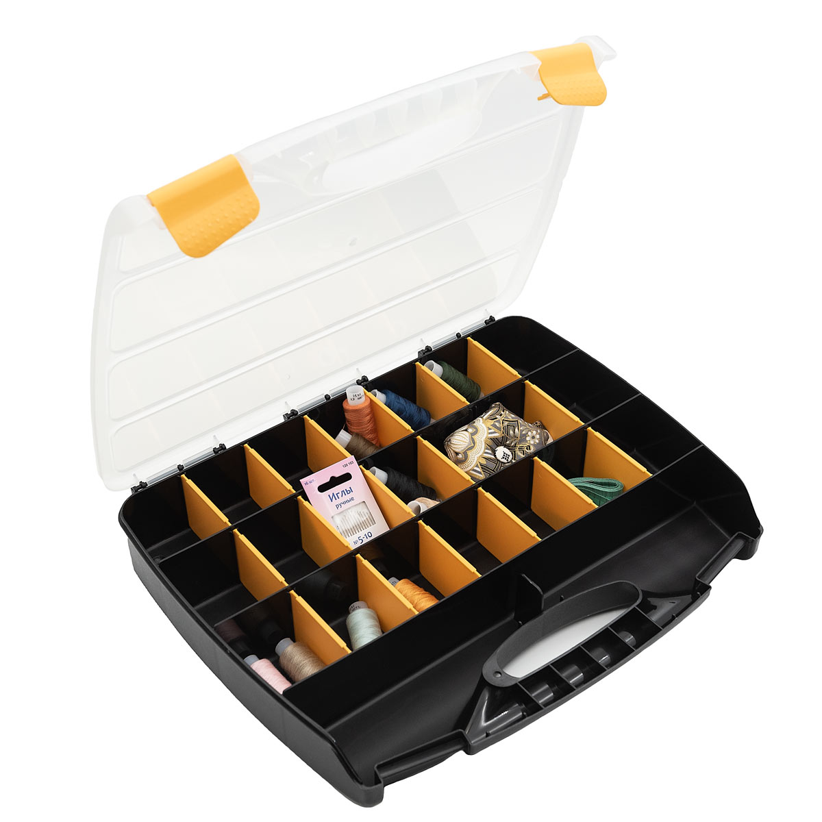 930523 Органайзер для хранения с 23 регулируемыми отделениями, 37.8*31*5.9см Hobby&Pro
