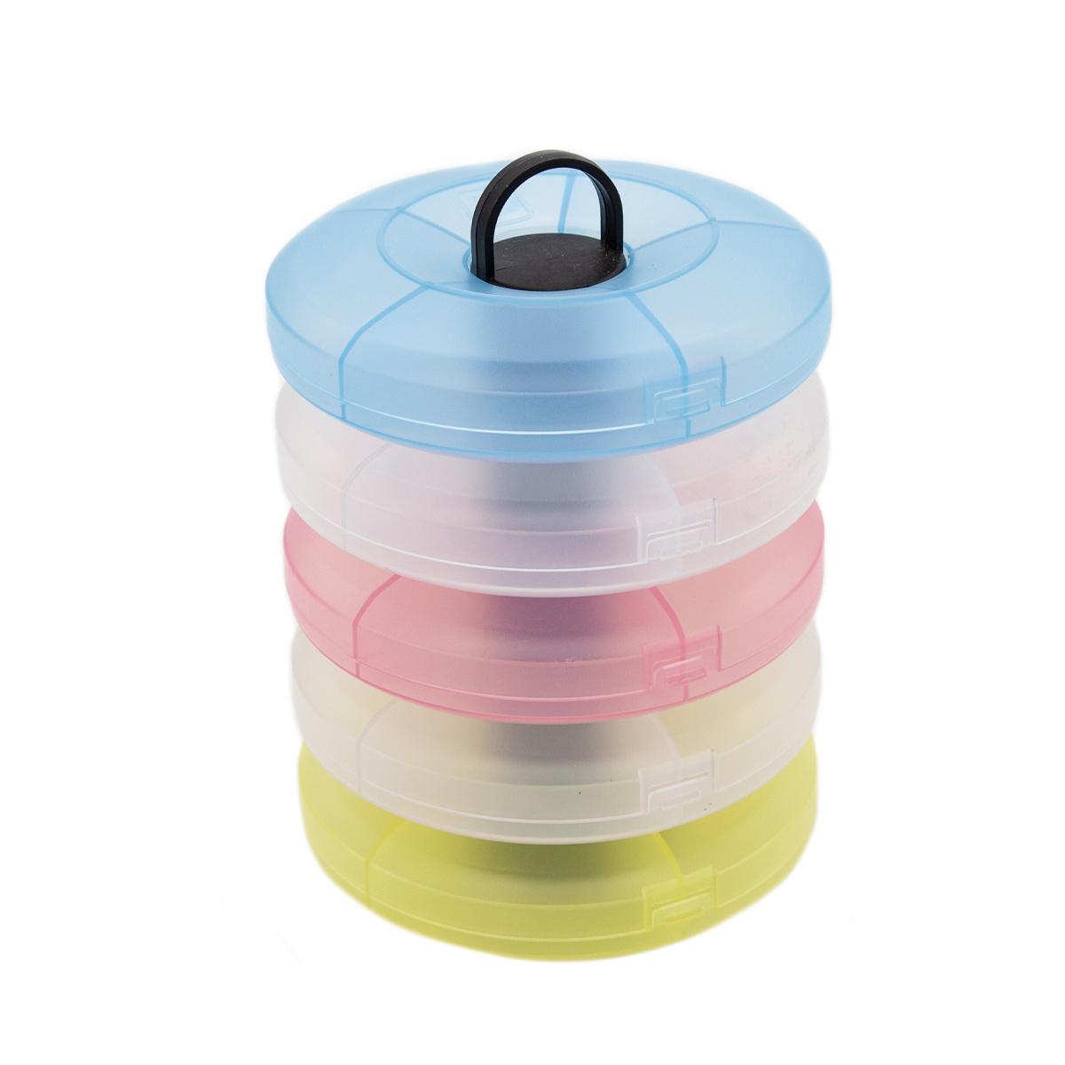 Система хранения из 5 контейнеров 930525, 12,7х12,9х18,1 см, Hobby&Pro
