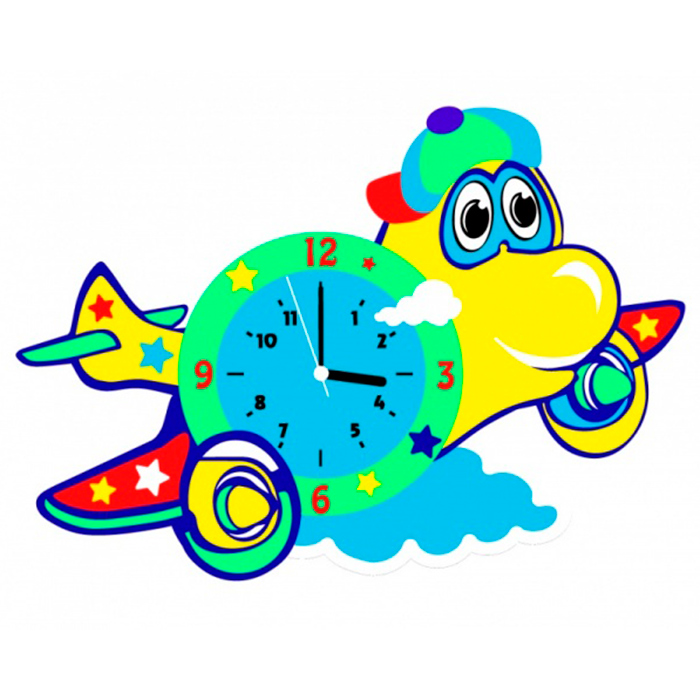 CL019 Самолет часы - набор для творчества из фоамирана Color KIT 28,5*19см