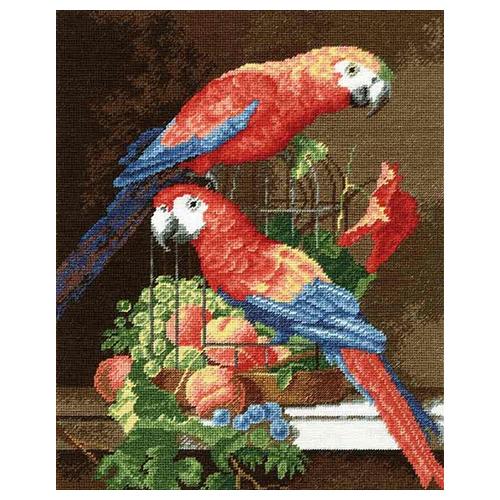 675 Набор для вышивания Hobby&Pro 'Пара попугаев', 22*27 см