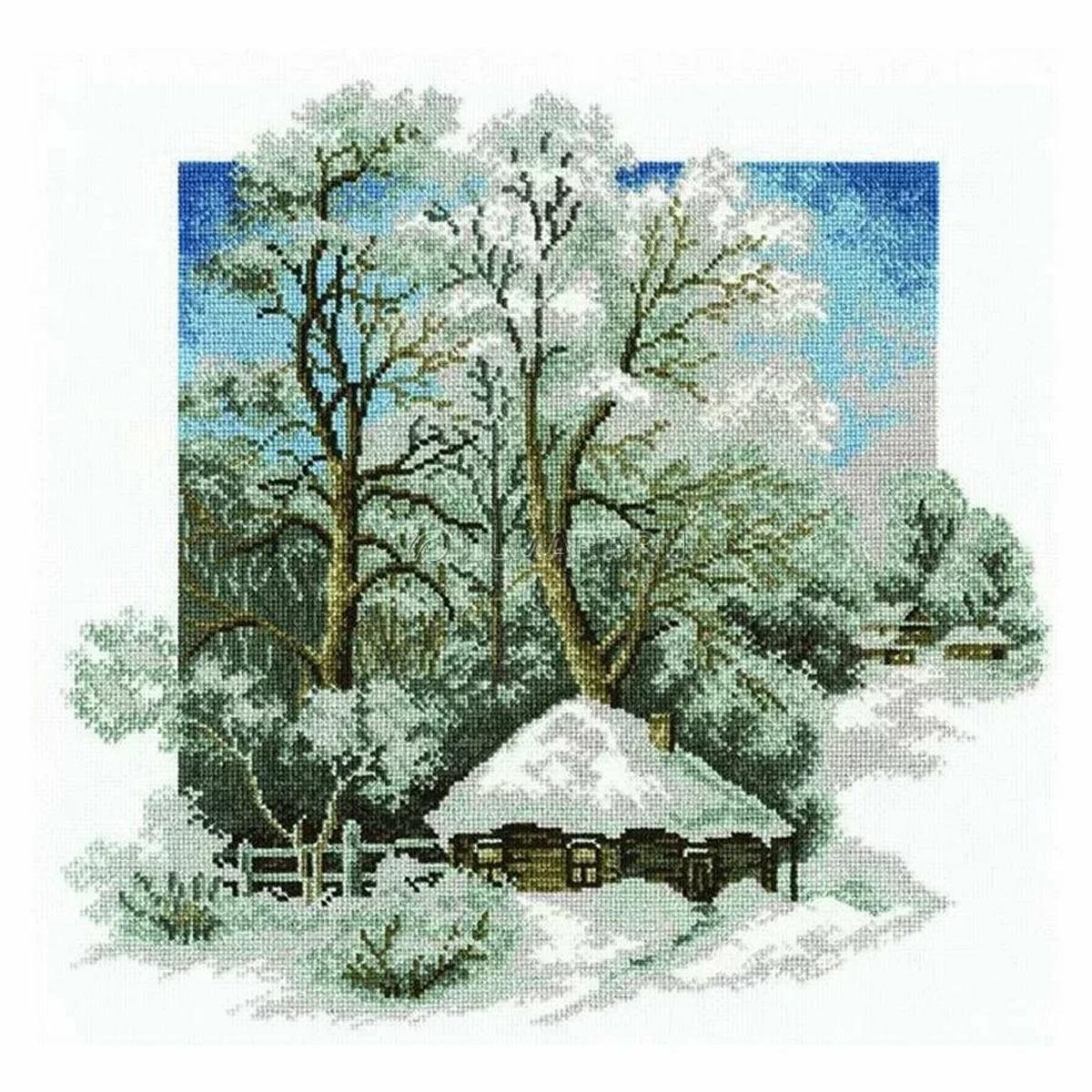 Набор для вышивания'Зима в деревне',28*27 см, 680, Hobby&Pro