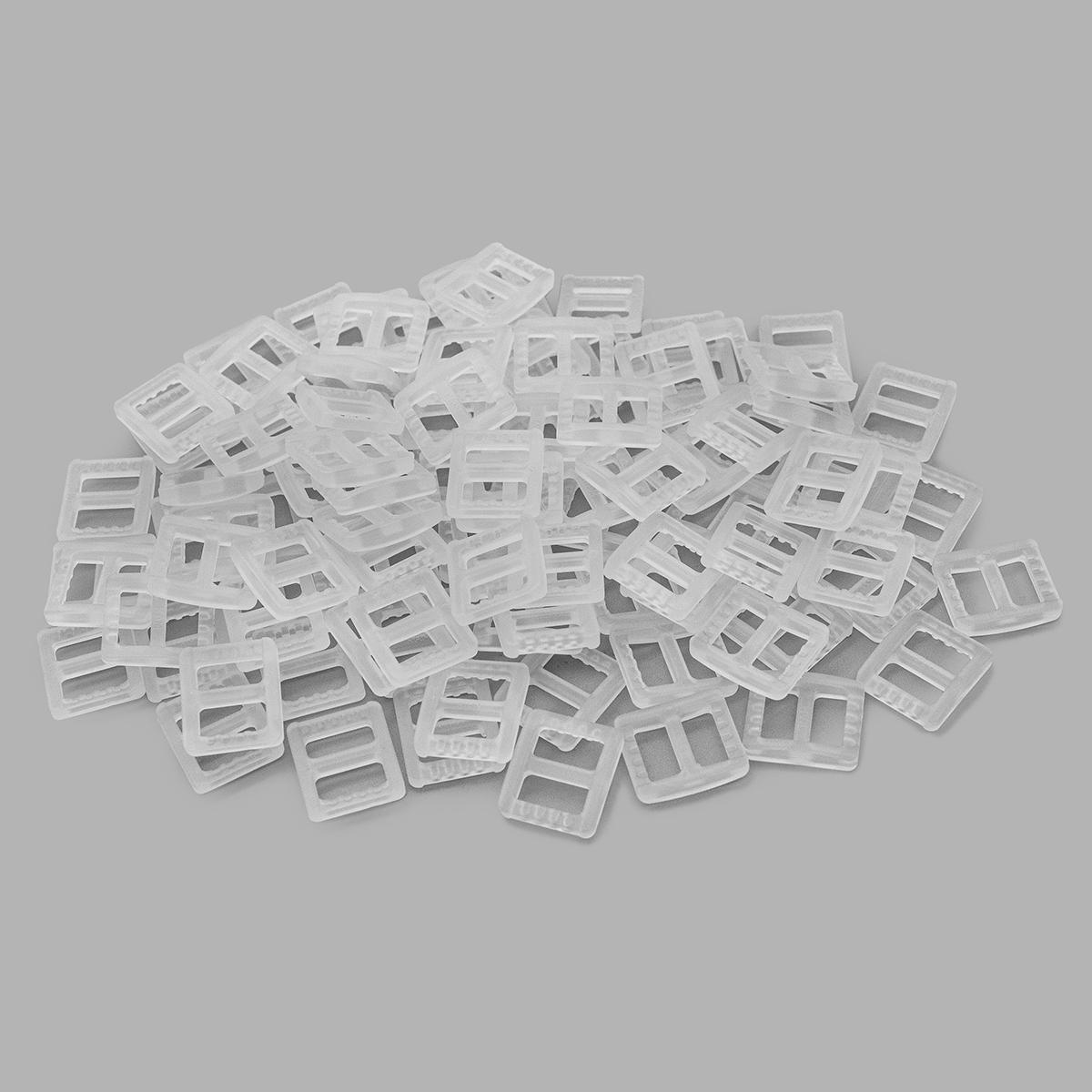 66076 Пряжка-рамка 10мм прозр.