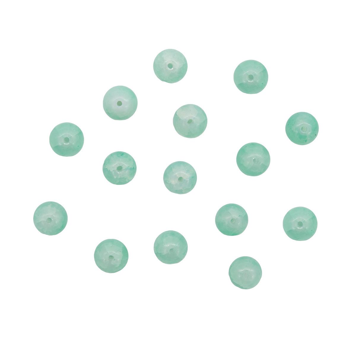 1301132 Бусины стеклянные 'Нефритовое кракле' 10мм, упак/20шт., 'Астра'