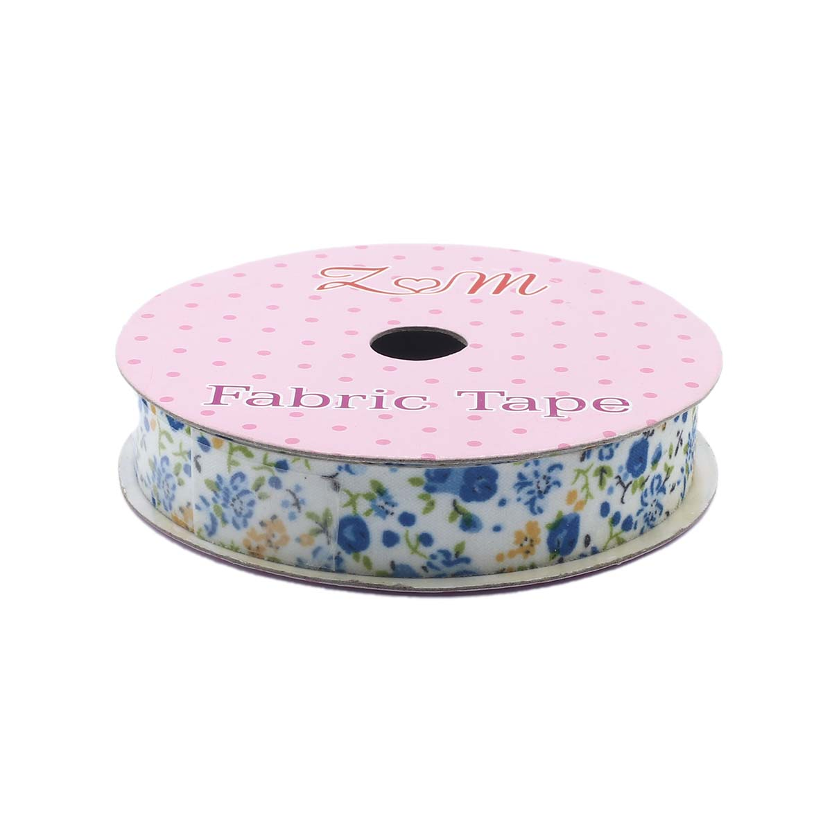 Скотч тканевый декоративный с принтом 'Цветы', 1,5см*1,8м