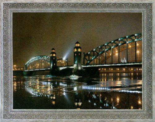 СБ-1016 Схема для вышиваня бисером Hobby&Pro 'Мост Петра Великого', 46,5*35 см