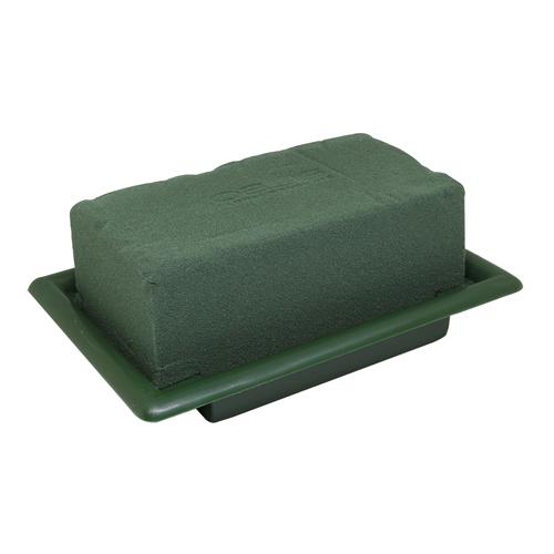 4215554 (40423) Оазис настольный Деко мини 13х9см зеленый поддон