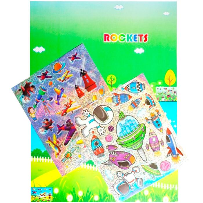 SD-TE 3-4 Мозаика-стикеры «Познаем мир» Color KIT 'Космическое путешествие' 21*10 см