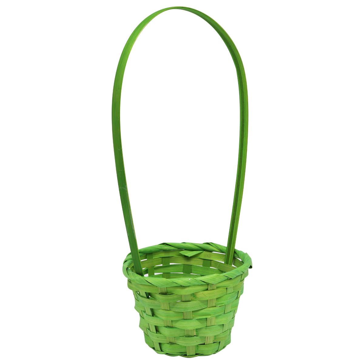 19HJ19092 Корзина плетеная бамбук 13*9*H28см, цв. зеленый Астра