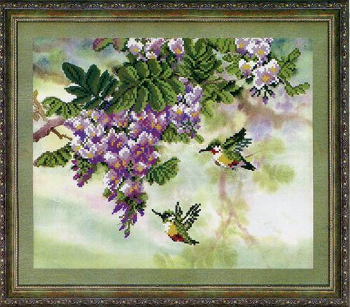СБ-1031 Схема для вышивания бисером Hobby&Pro 'Цветущий сад', 30*25 см