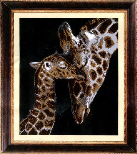 """Схема для вышивания бисером СБ-1032 """"Жирафы"""", 31х37 см, Hobby&Pro"""
