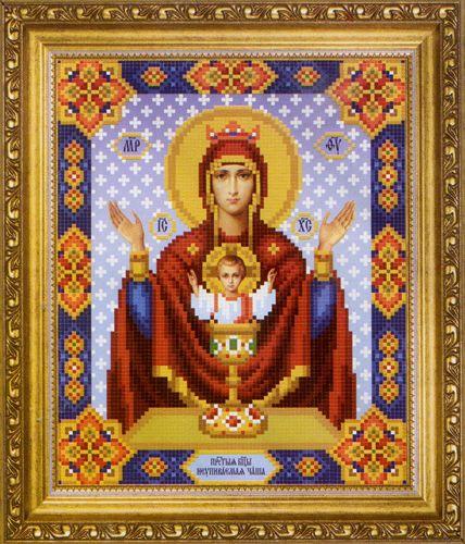 СБ-1005 Схема для вышивания бисером Hobby&Pro Икона Божьей Матери 'Неупиваемая Чаша', 17,7*21,7 см