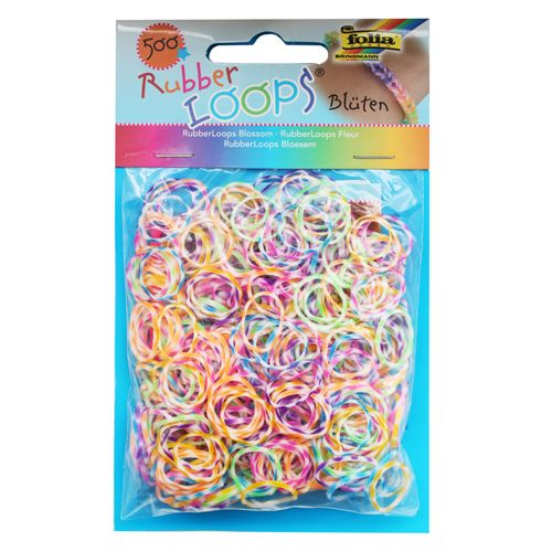 Резинки для браслетов 'В полоску' Rubber Loops (500 шт., 25 застежек, 1 крючок) (339549) Folia