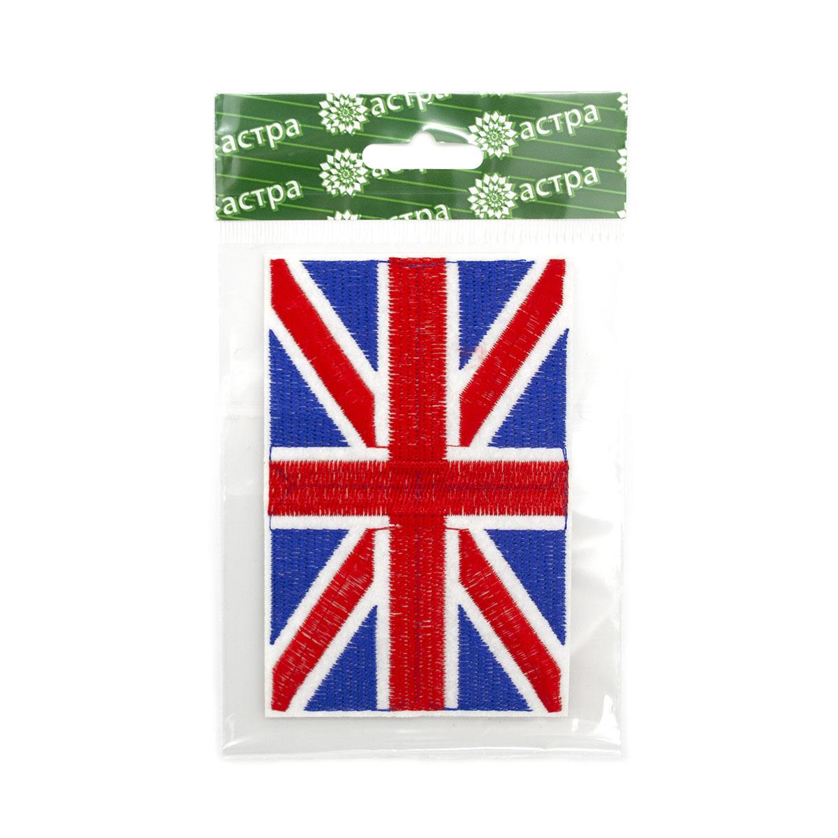 Термоаппликация LM-80359, 'Английский флаг', (0411-0817)