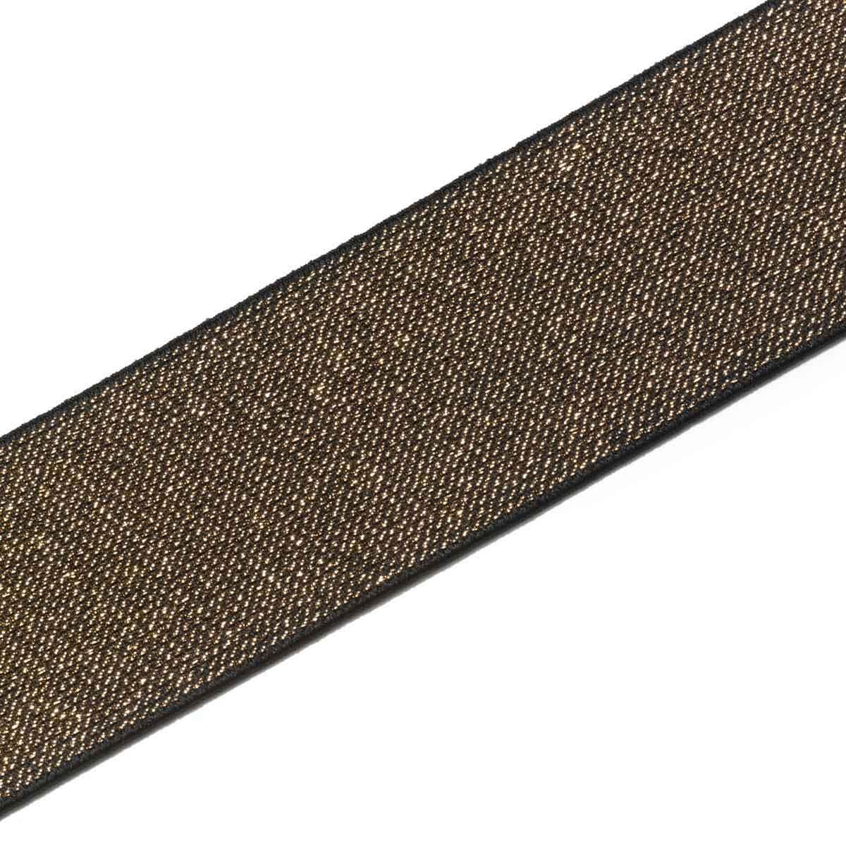 957469 Эластичная лента Color 50мм*7м, шоколад/золото