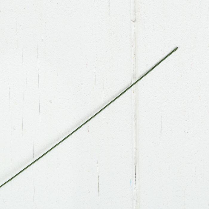 2985158 Проволока для изготовления искусственных цветов 'Зелёная' длина 40 см сечение 0,07 см