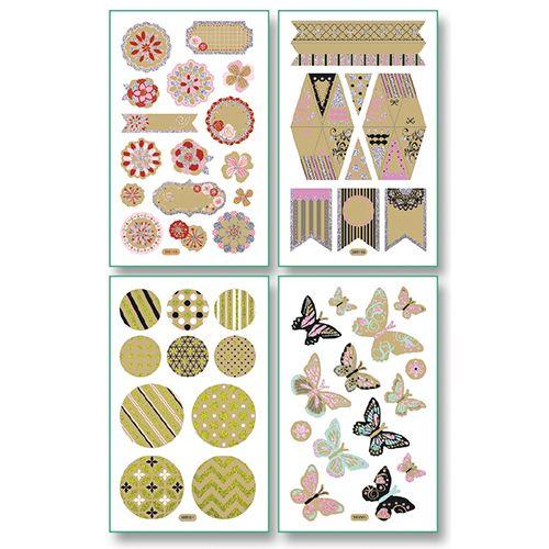 Стикеры ROMANTIC 10x16см, 8 листов различных дизайнов (1320) Folia