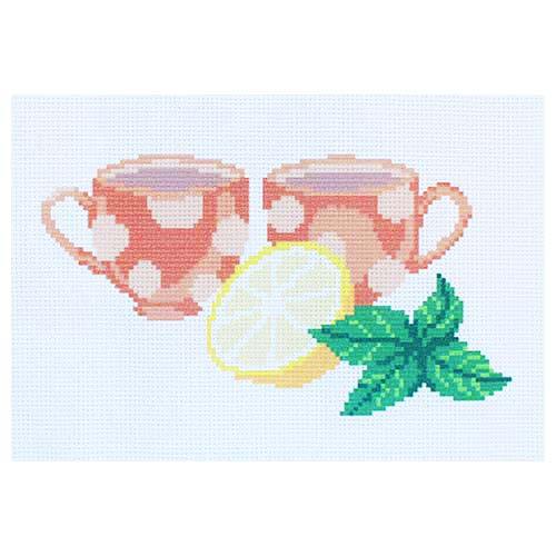 "Набор рисунок на канве + мулине ПК-148 ""Аромат чая"", 22х22 см, Hobby&Pro"