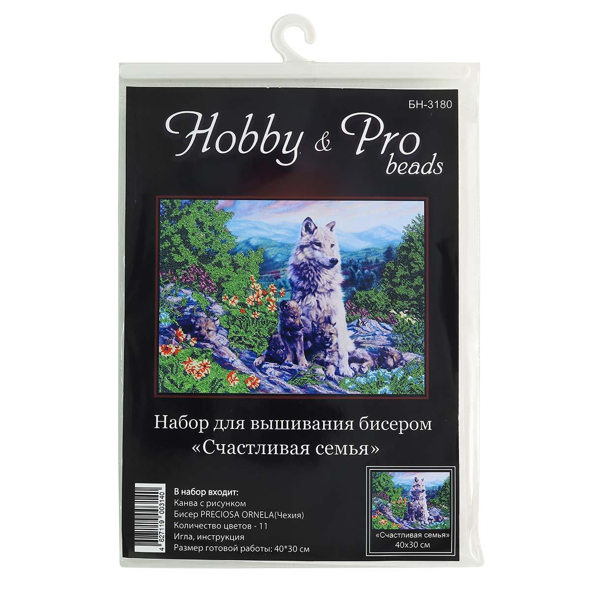 БН-3180 Набор для вышивания бисером Hobby&Pro 'Счастливая семья', 40*30 см
