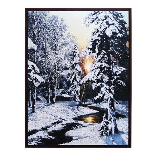 БН-3184 Набор для вышивания бисером Hobby&Pro 'Зимний ручей', 30*40 см