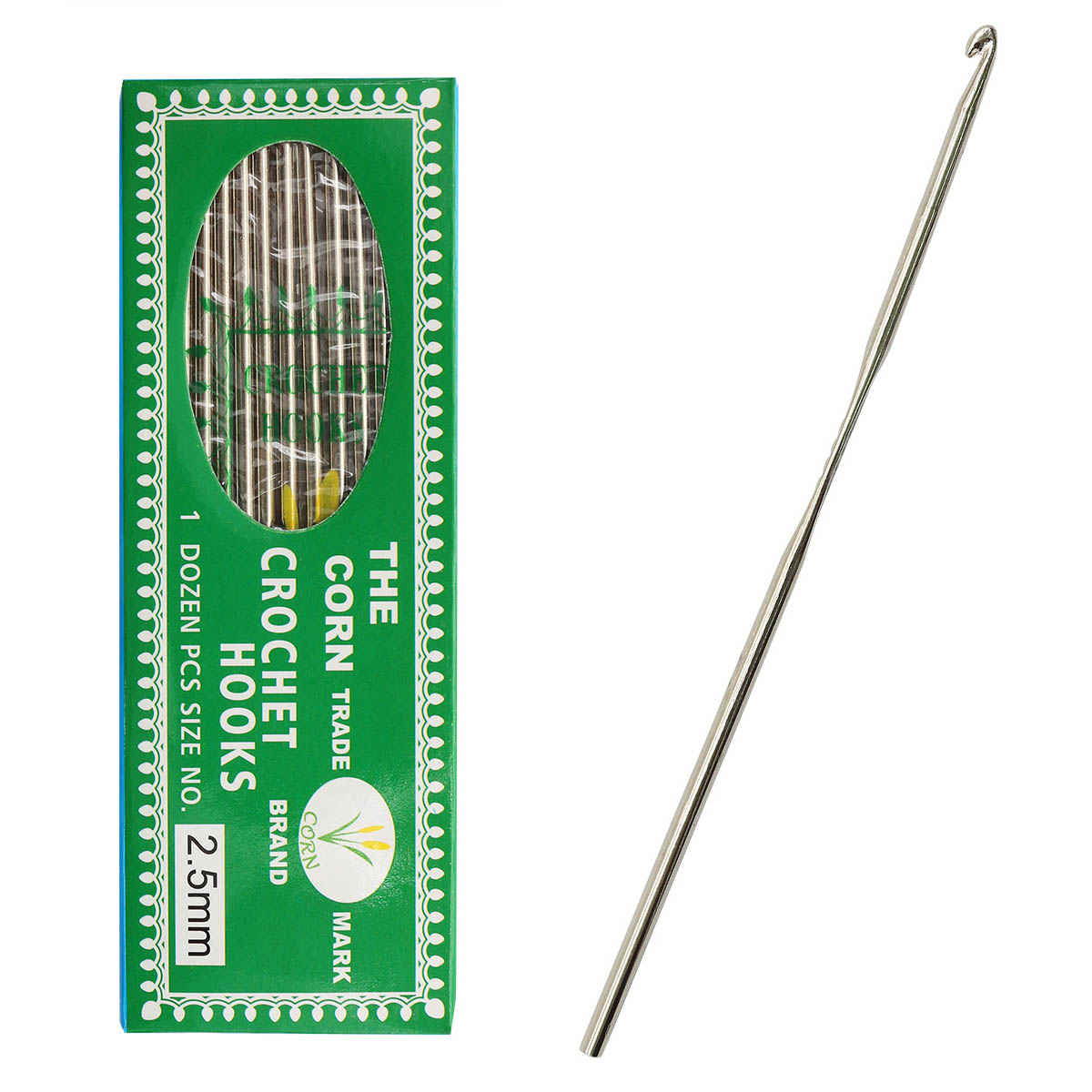 0333-6050 Крючок вязальный, 2,5 мм, упак./12 шт.