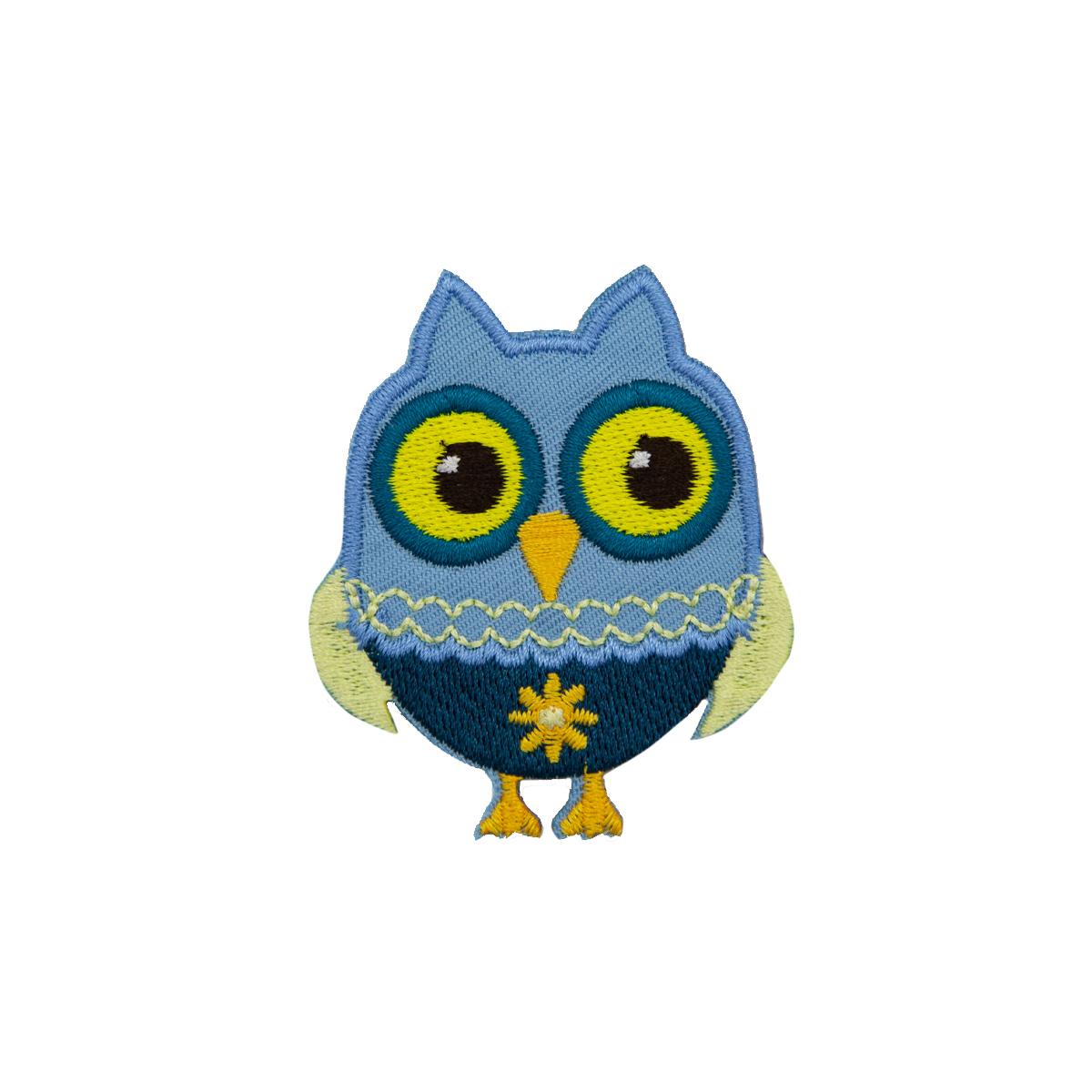 Термоаппликация 'Совенок голубой' Hobby&Pro