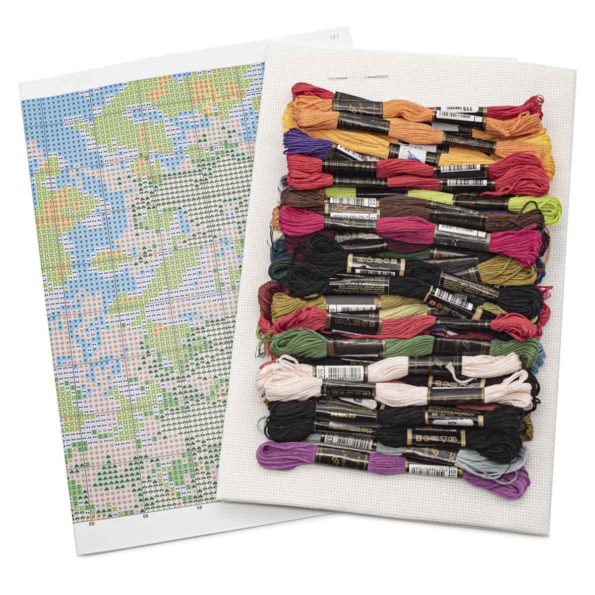 """Набор для вышивания 763 """"Дождливый вечер"""", 50х55 см, Hobby&Pro"""