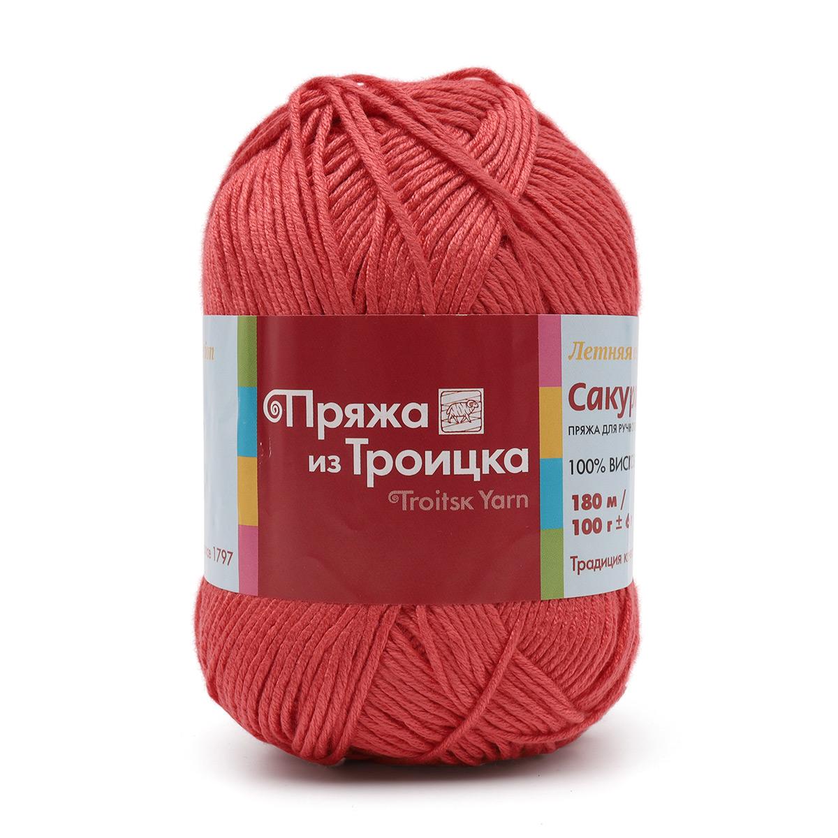 """Пряжа из Троицка """"Сакура"""" 100гр. 180м. (100% вискоза)"""