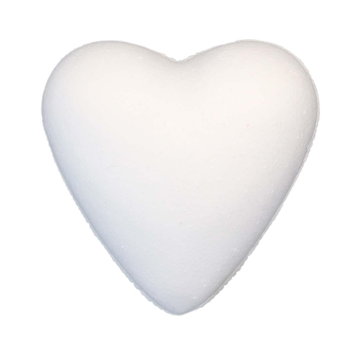 Заготовка для декорирования из пенопласта 'Сердце полное', 7см, 2 шт/упак, Астра