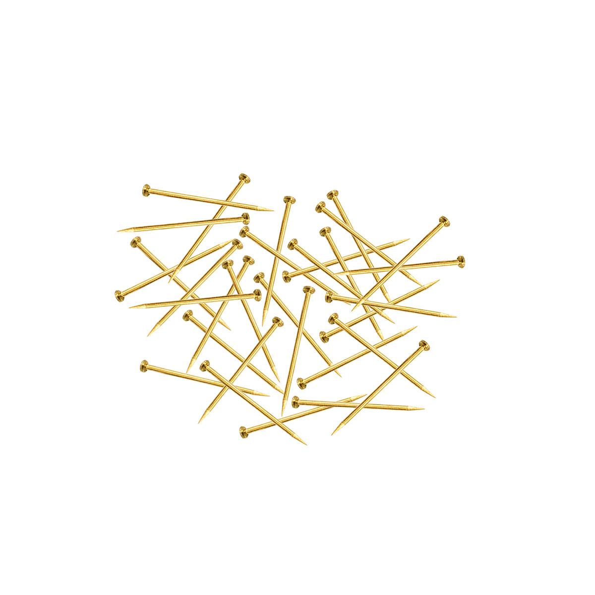 52901 Булавки-гвоздики наметочные 0,65мм/16мм, латунь, 35г PONY