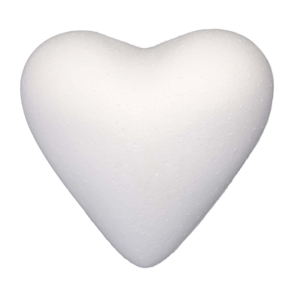 Заготовка для декорирования из пенопласта 'Сердце полное', 11см, 1 шт/упак, Астра