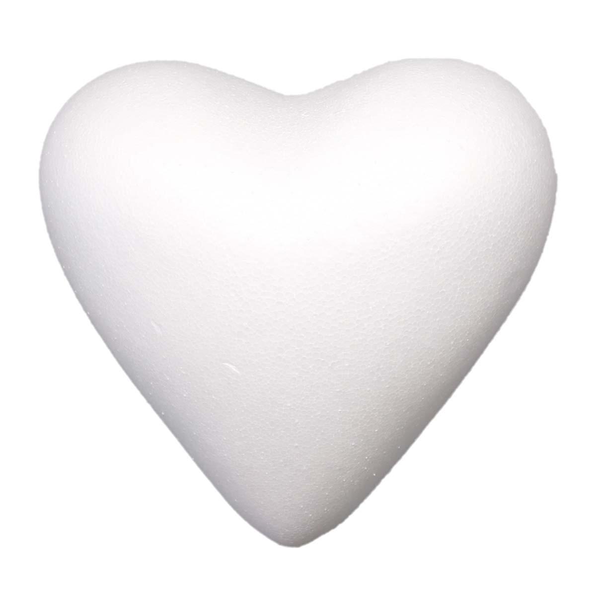 Заготовка для декорирования из пенопласта 'Сердце полное', 15см, 1 шт/упак, Астра