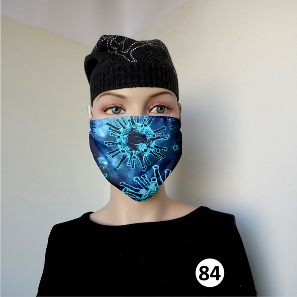 Повязка (маска) принтованная от пыли 'Вирус 84'