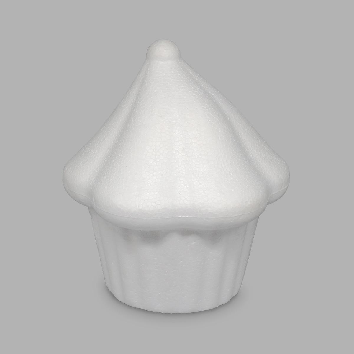 Заготовка для декорирования из пенопласта 'Кекс с безе', d 8 см, h 9 см, 1 шт/упак, Астра