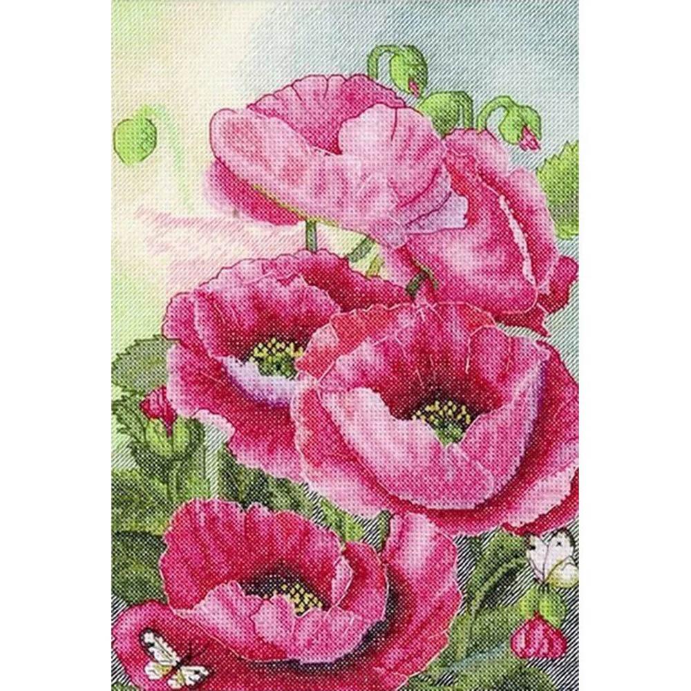 "Набор для вышивания 778 ""Розовые маки"", 19х28 см, Hobby&Pro"