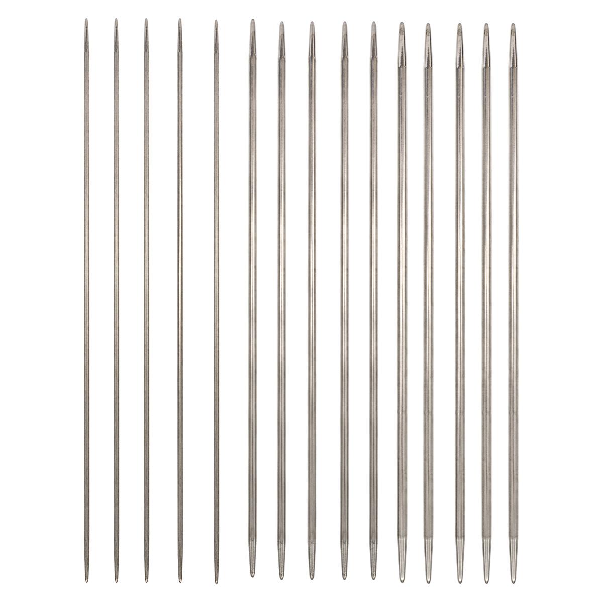 Набор носочных металлических спиц для вязания 2,00мм-3,00мм, Hobby&Pro