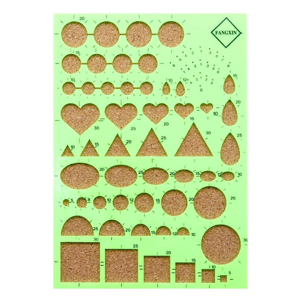 22968 Пластиковая доска для квиллинга с пробковым основанием, цв. св.зеленый