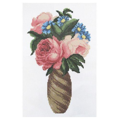 ПК-211 Набор (рис/канв. мулине) Hobby&Pro 'Цветы в вазе', 30*40 см