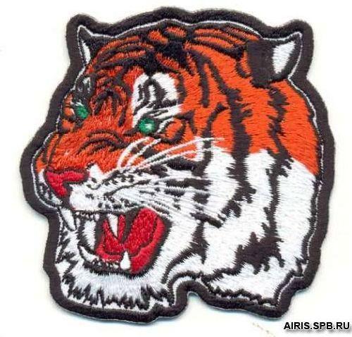 AD1042 Термоаппликация 'Тигр бенгальский', 8*8 см, Hobby&Pro