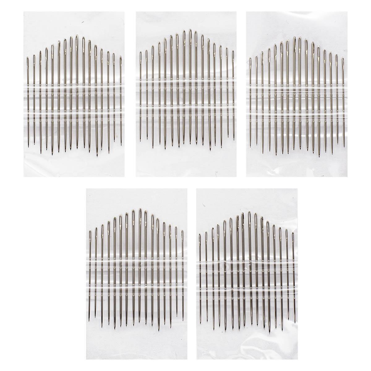 Иглы ручные для тонкой шерсти №3-9, 16шт. 110108, Hobby&Pro